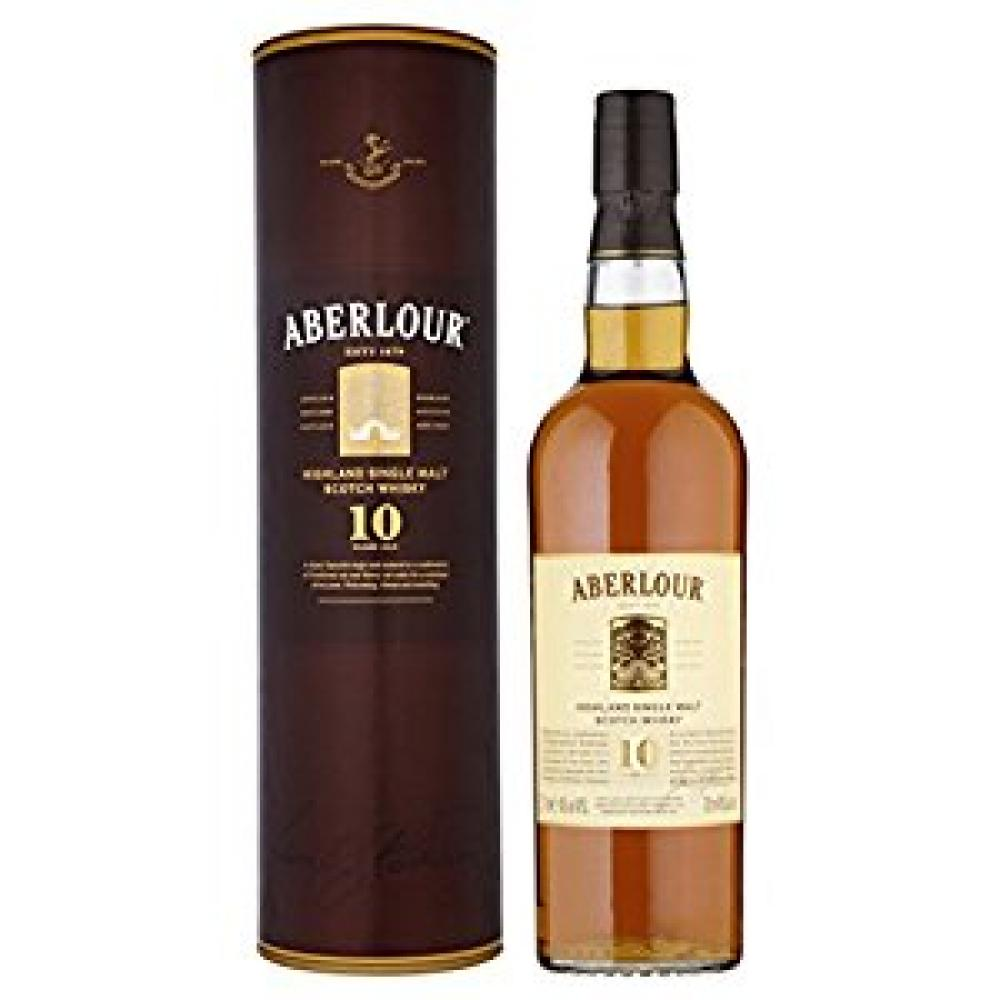 Aberlour 10 Year Old Double Cask Matured Single Scotch Malt Whisky 70cl Wthout Box