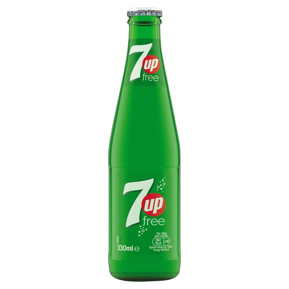 7up Free Glass Bottle 330ml