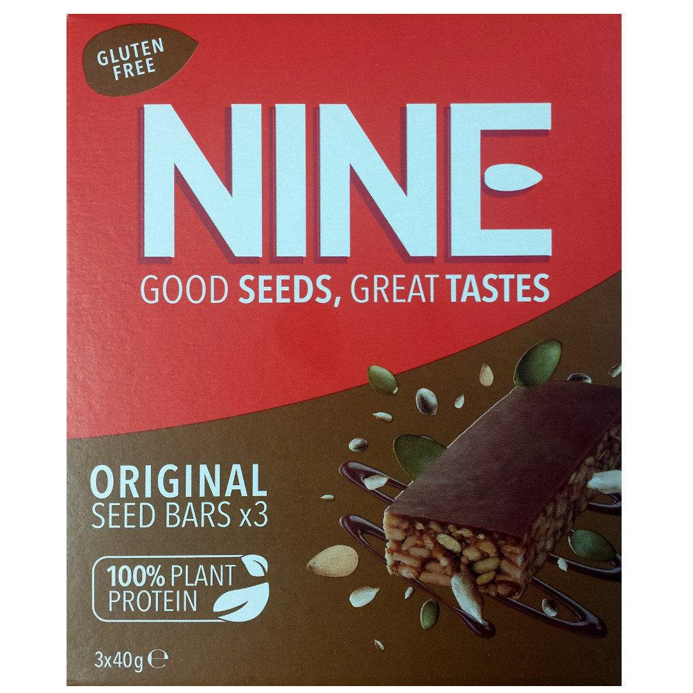 9Nine Super Seeds Original Carob Seed Bar 40g x 3
