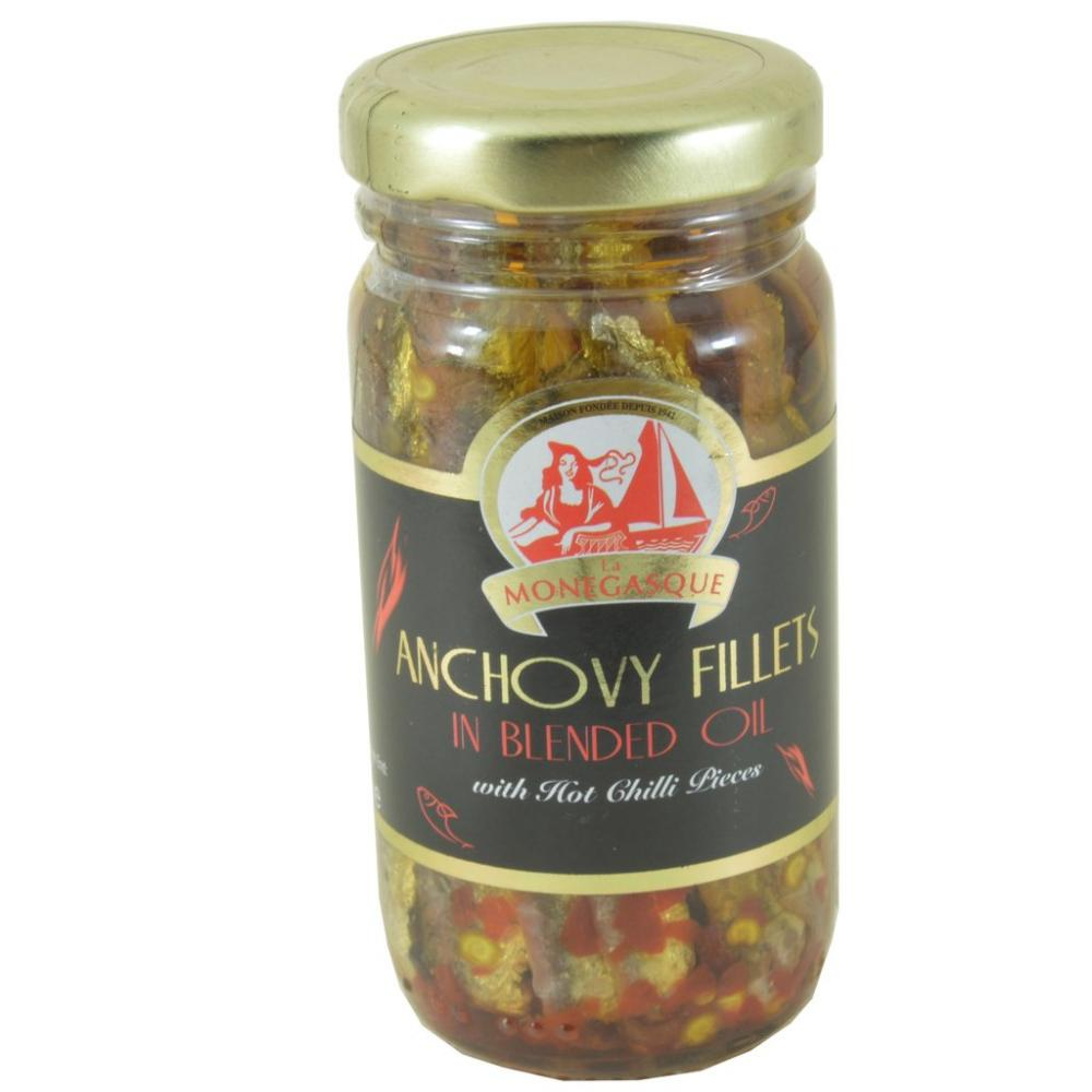 La Monegasque Anchovy Fillets With Hot Chilli Pieces 100g
