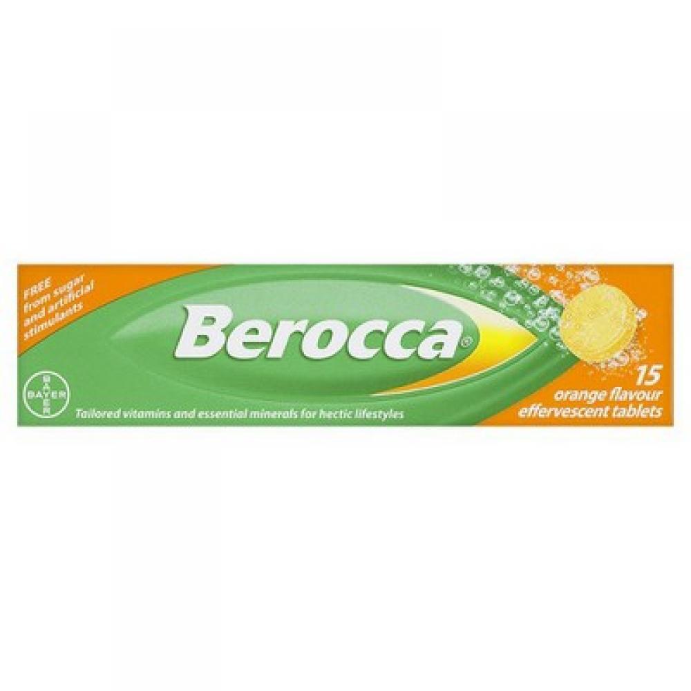 Berocca 15 Orange Flavour Effervescent Tablets