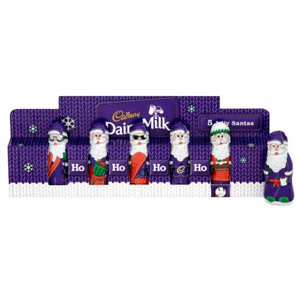 Cadbury Dairy Milk Mini Hollow Santas 75g 5 pack