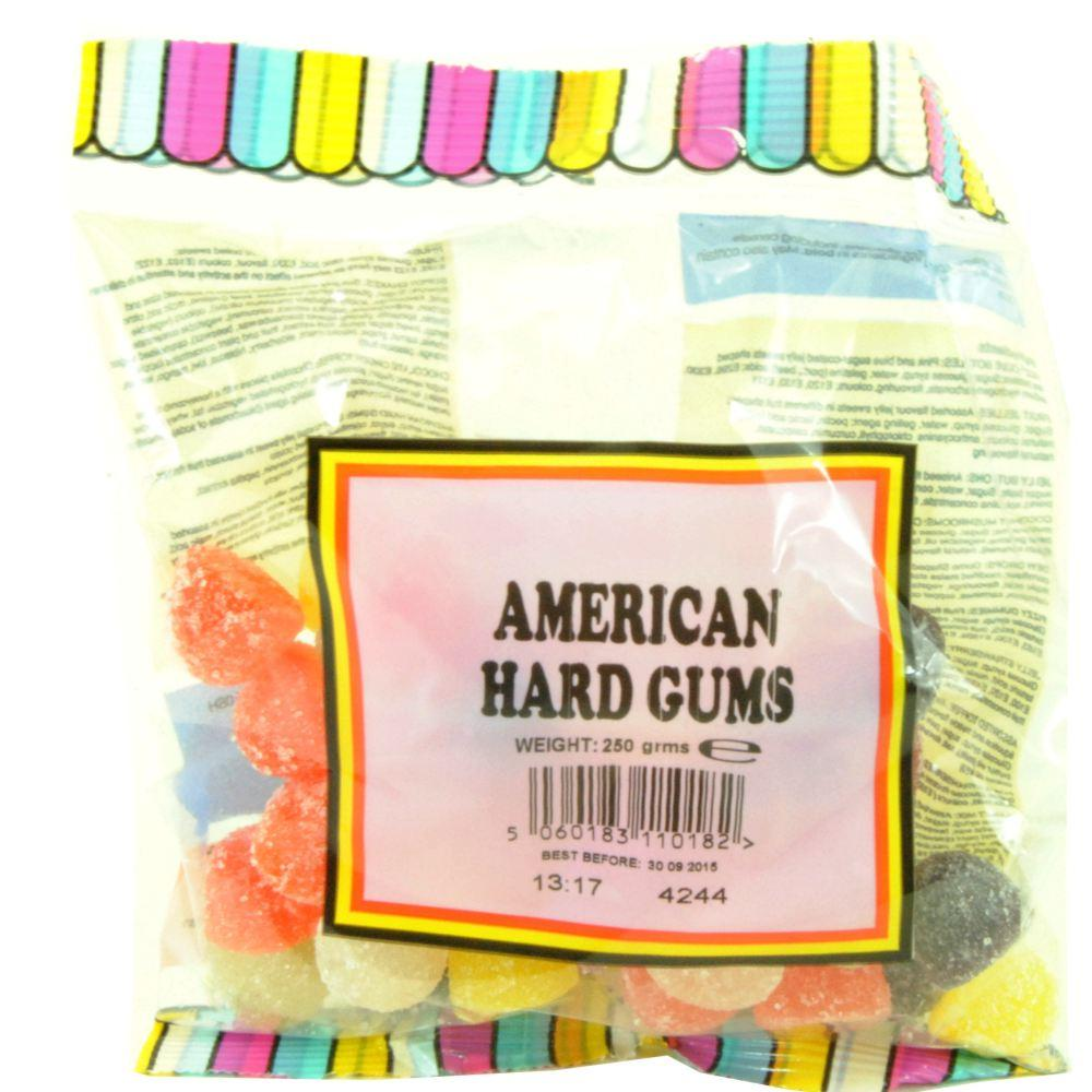 Great British Sweets American Hard Gums 250g