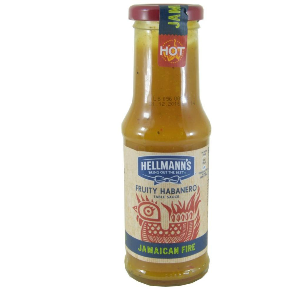 Hellmanns Fruity Habanero Table Sauce Jamaican Fire 210ml