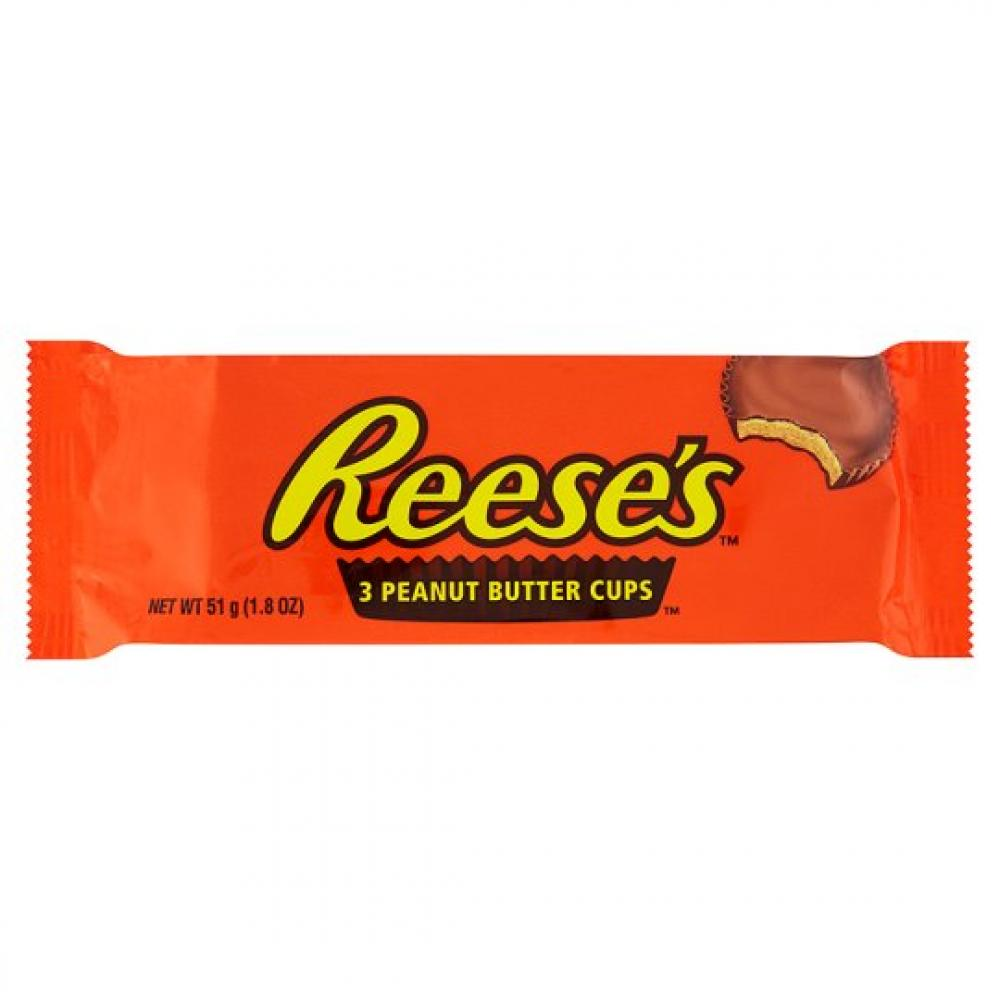 Hersheys Reeses 3 Peanut Butter Cups 51g