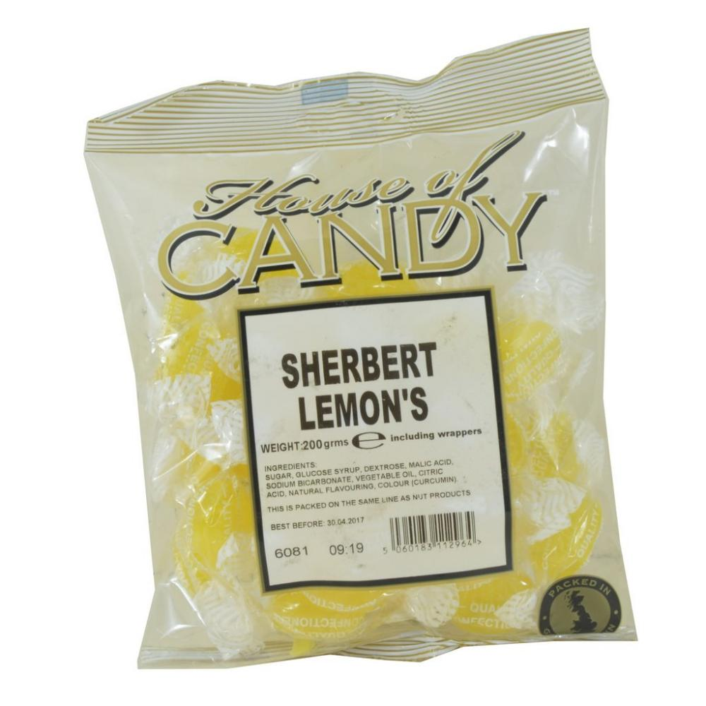 House Of Candy Sherbet Lemons 200g