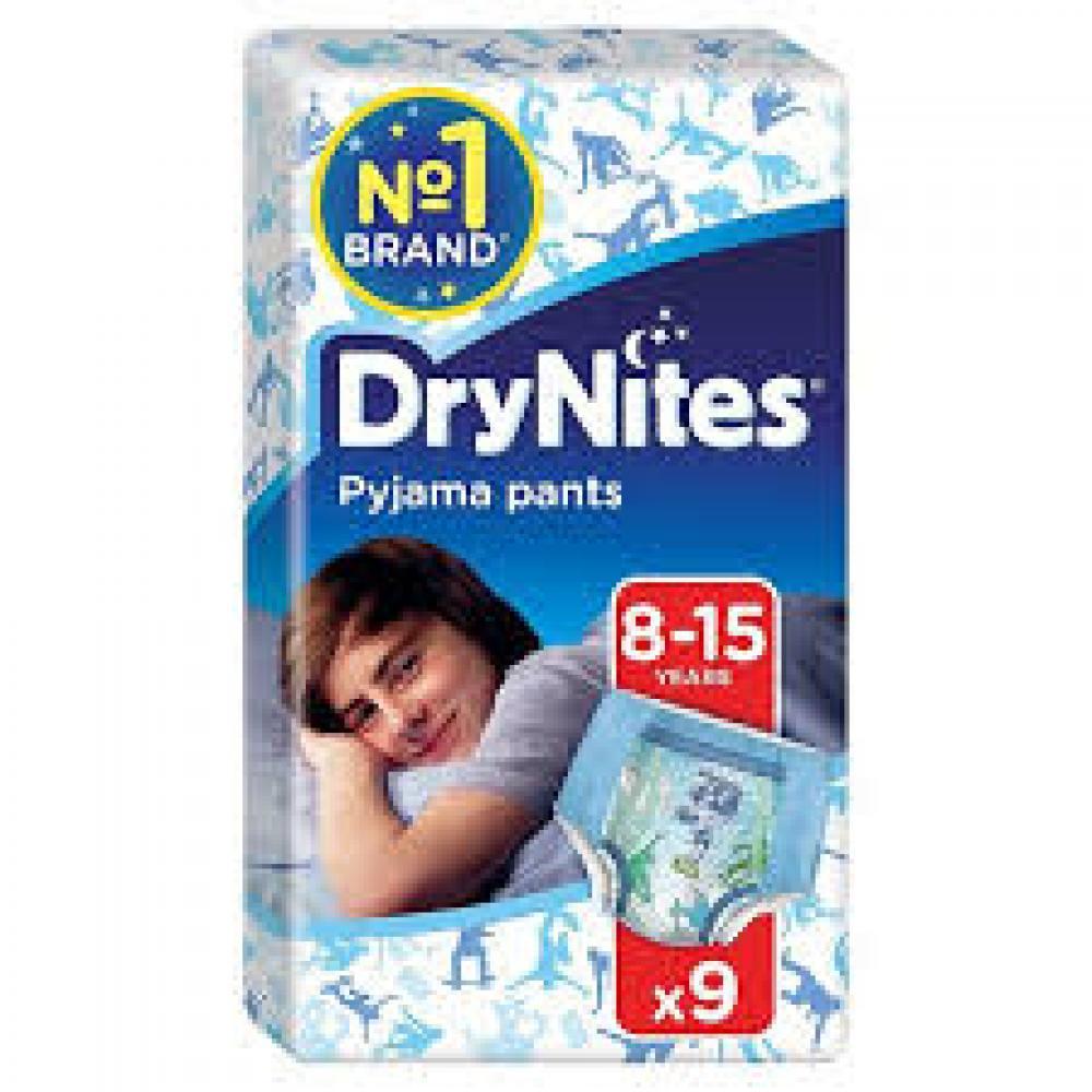 Huggies Dry Nites Boys Pyjama Pants 8 to 15 Years 9 Pack