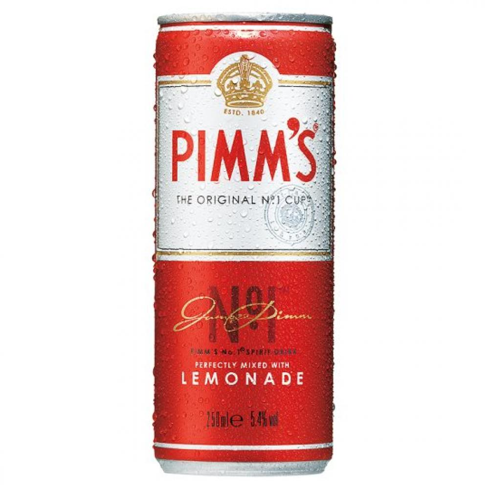 Pimms Lemonade Pre Mixed and Ready to Drink Can 250ml