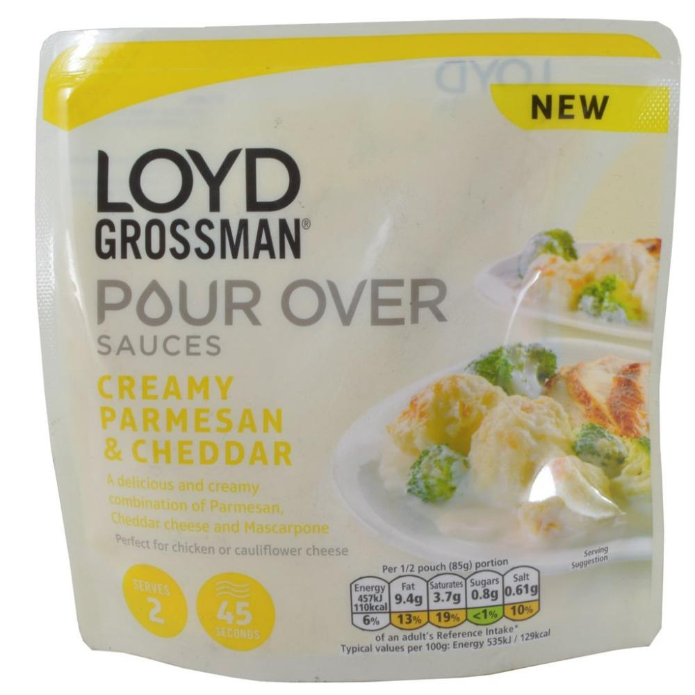 Loyd Grossman Pour Over Sauces Creamy Parmesan And Cheddar 170g