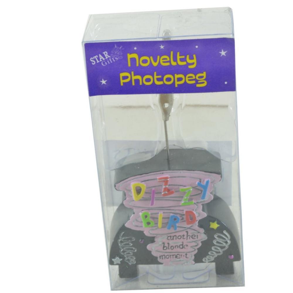 SALE  Star Gifts Novelty Photopeg Dizzy Bird