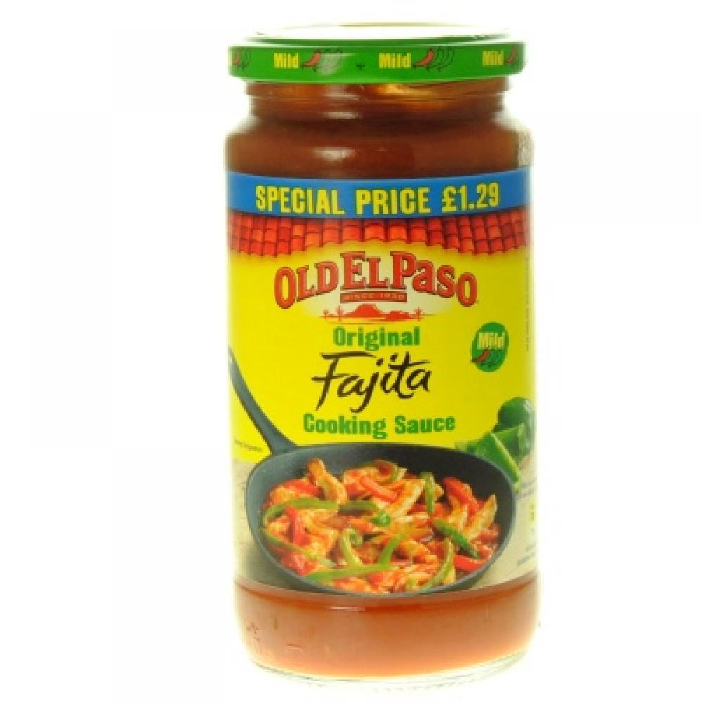 Old El Paso Original Mild Fajita Cooking Sauce 395g