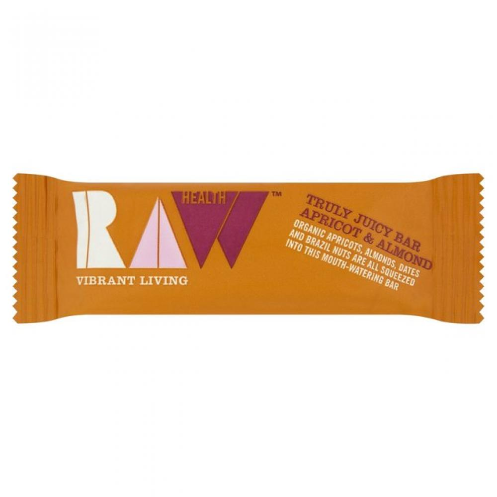 Raw Health Organic Truly Juicy Raw Apricot and Almond Bar 46g