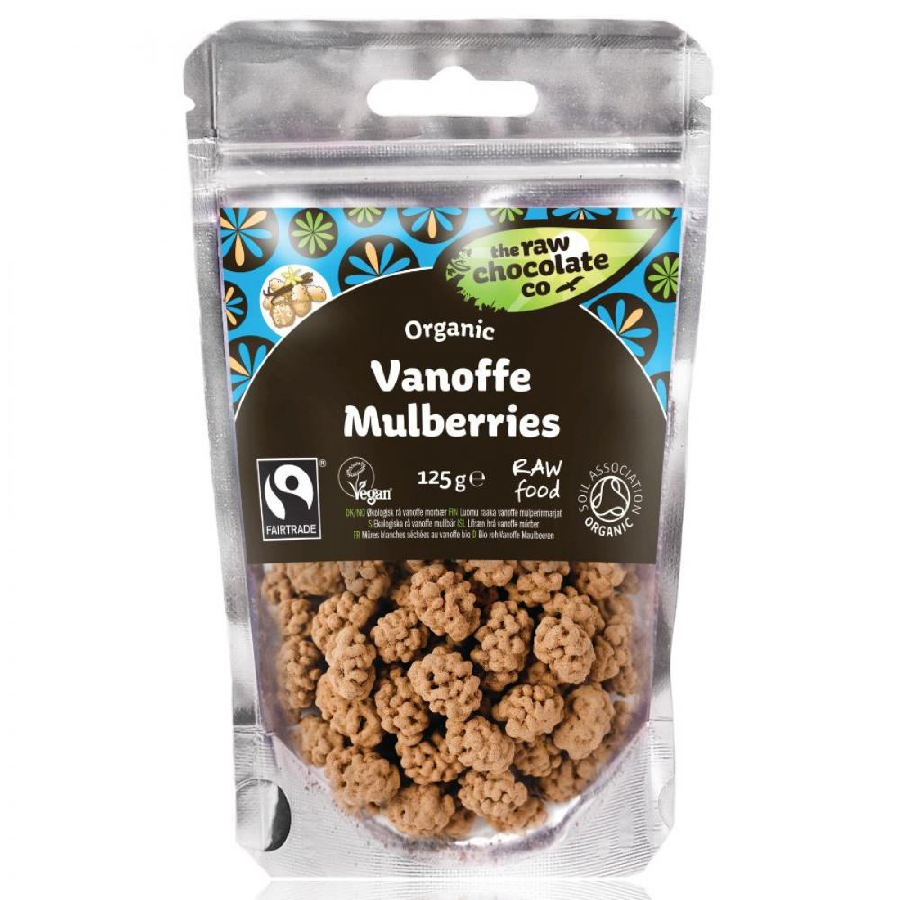 The Raw Chocolate Co Vanoffe Covered Mulberries 125 g