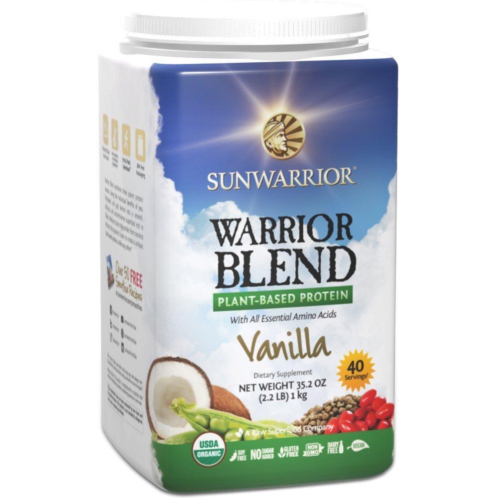 Sunwarrior Warrior Blend Plant Based Organic Protein Vanilla Flavour 1kg