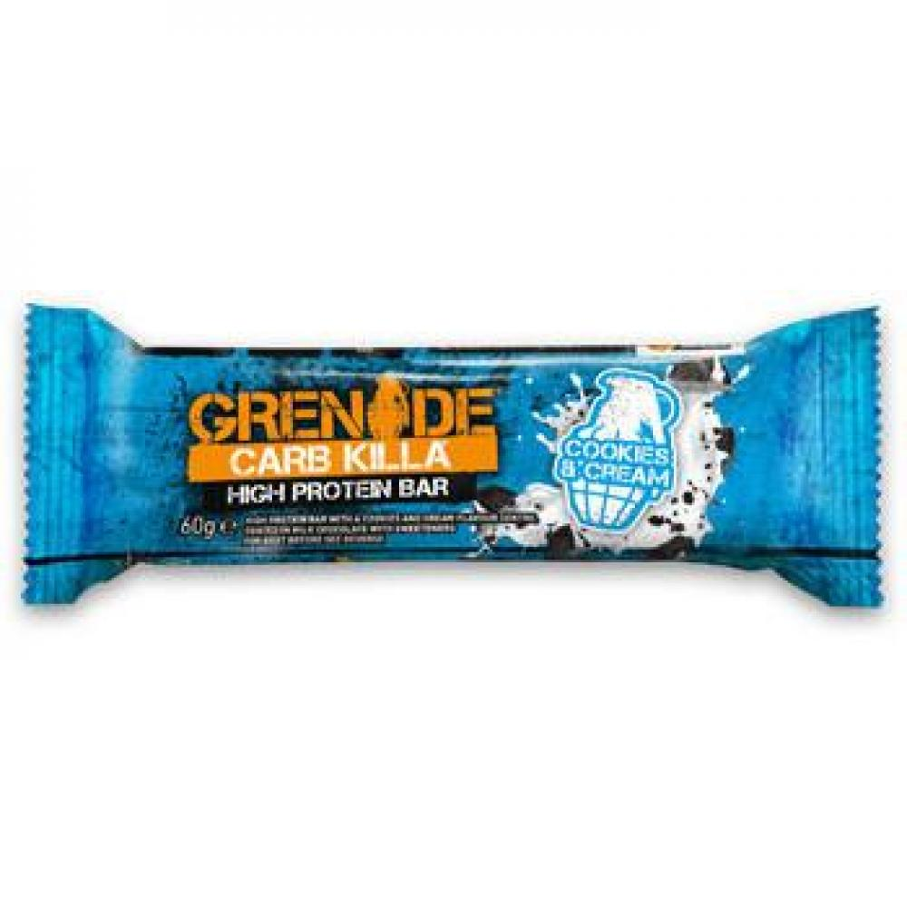 Grenade Carb Killa High Protein and Low Carb Bar Cookies and Cream 60g