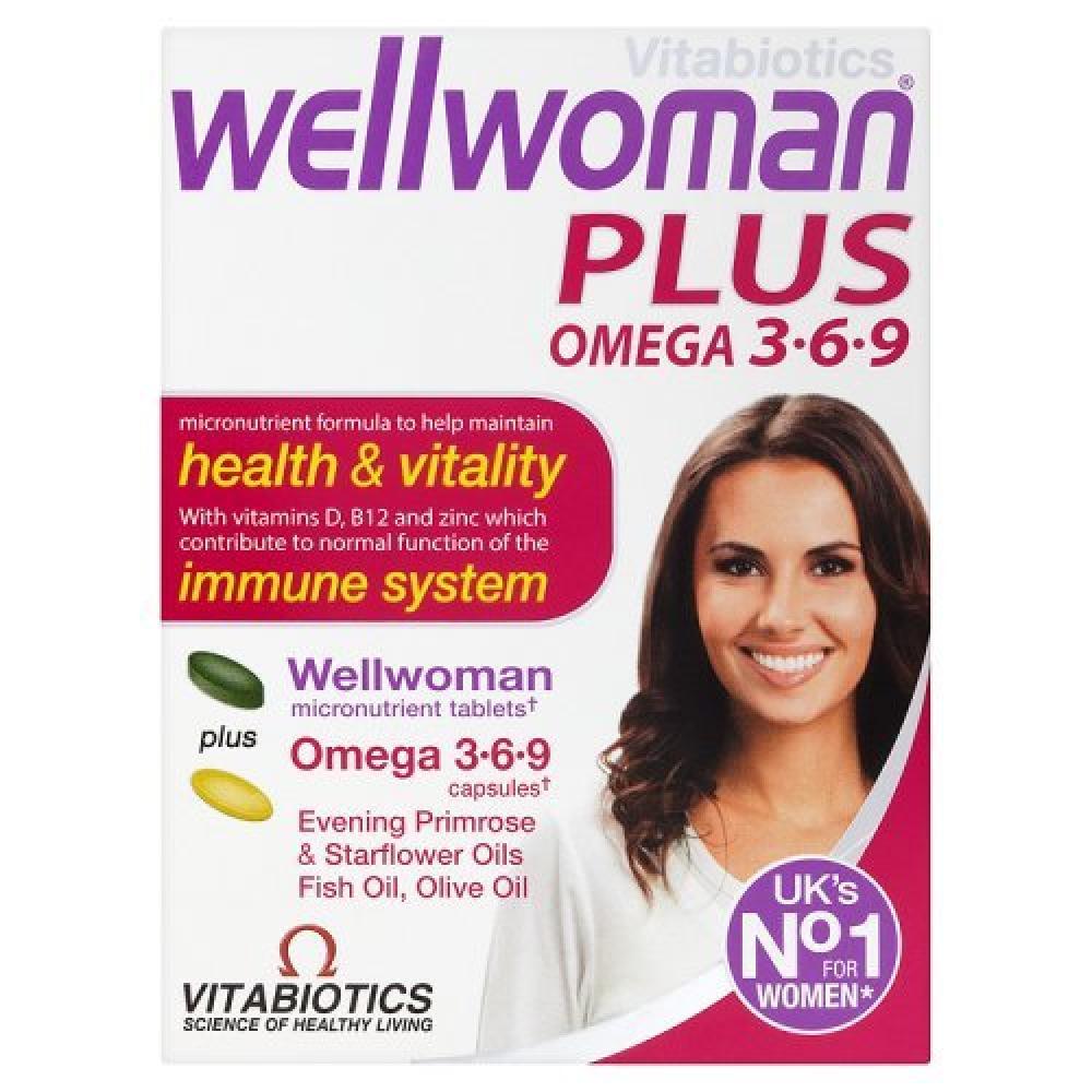 Vitabiotics Wellwoman Plus Omega 3 6 9 56 Tabs