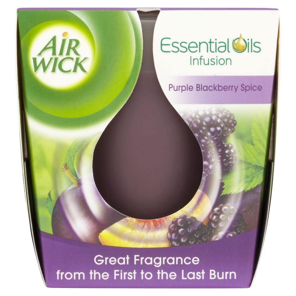 WEEKLY DEALS  Air Wick Essential Oils Infusion Purple Blackberry Spice Candle