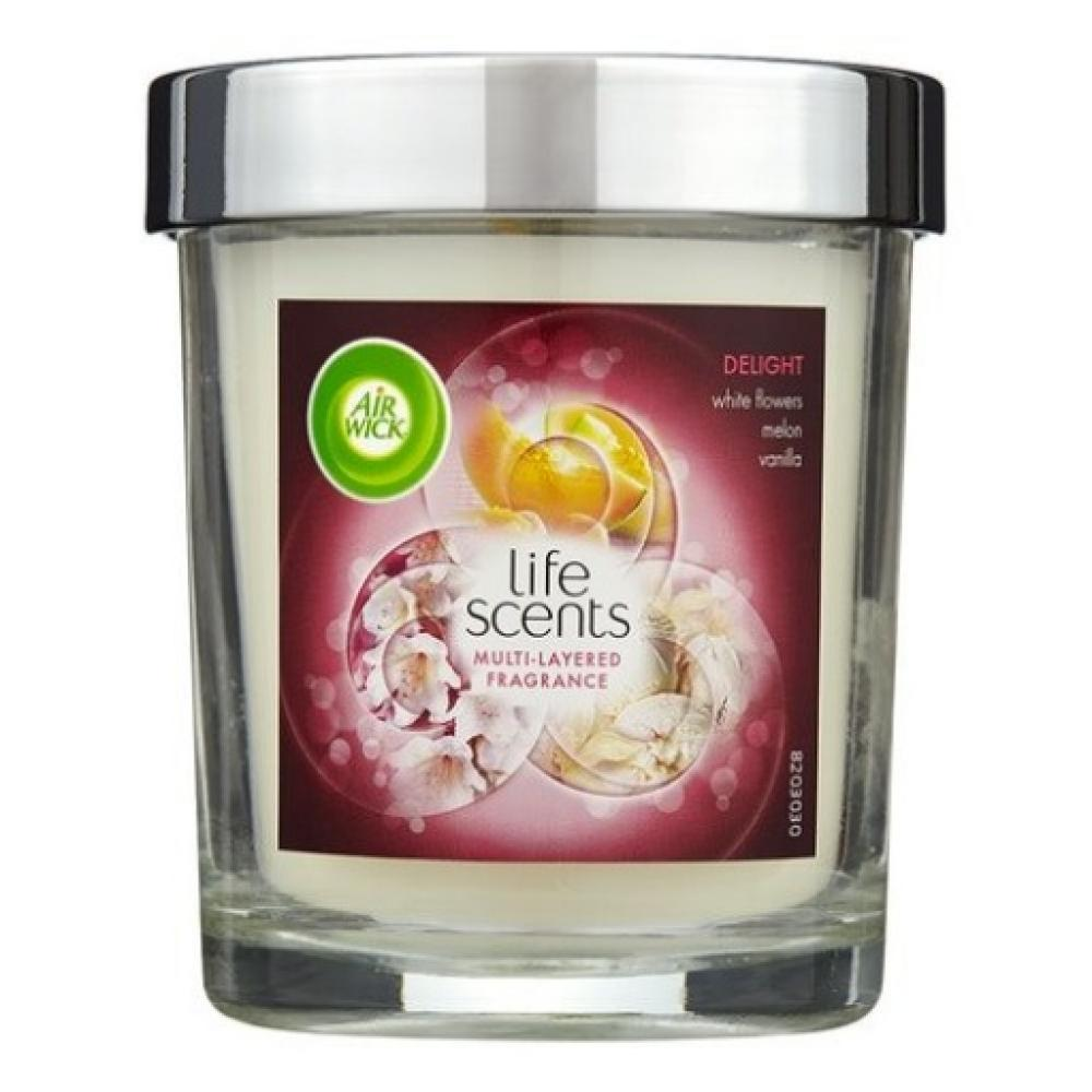 Air Wick Life Scents Candle Delight With Flowers Melon Vanilla