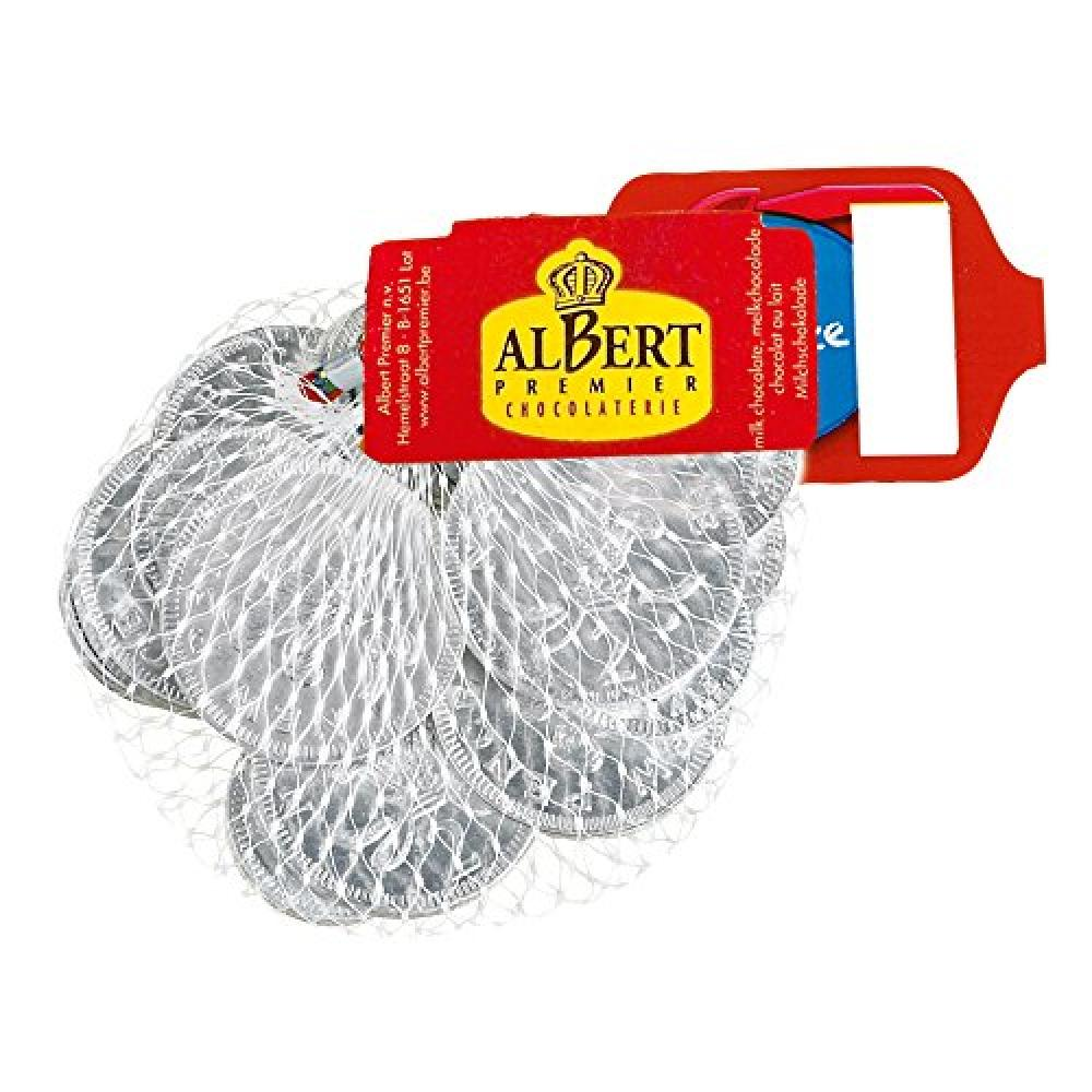 Albert Premier White Chocolate Coins 75g