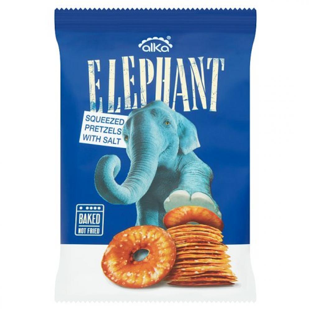 Alka Elephant Squeezed Pretzels With Salt 180g