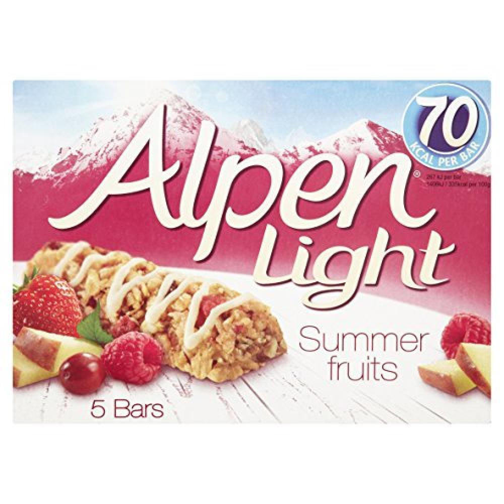 Alpen Light Summer Fruits Cereal 5 Bars