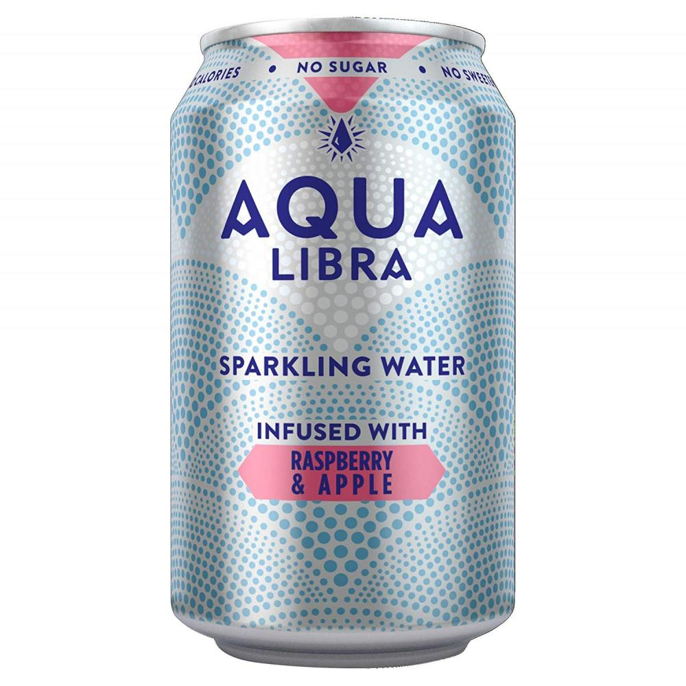 Aqua Libra Raspberry and Apple Fruit Flavoured Sparkling Water Can 330 ml