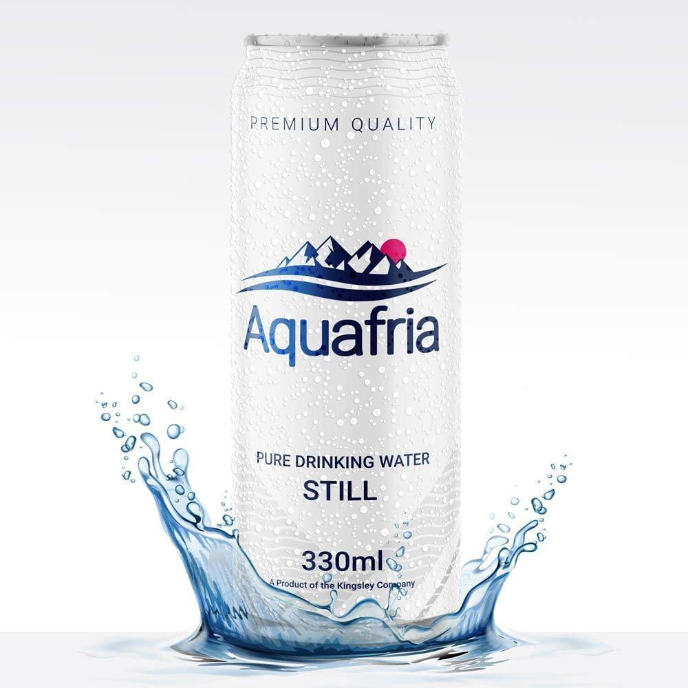 Aquafria Pure Water Still Can 330ml