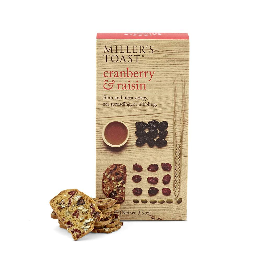 Artisan Biscuits Millers Toast Cranberry and Raisin 100 g Damaged Box
