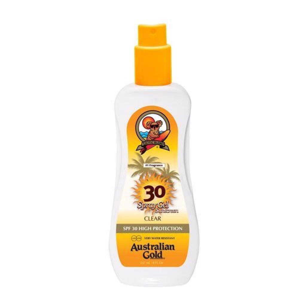 Australian Gold SPF 30 Plus High Protection Water Resistant Spray Gel 237ml