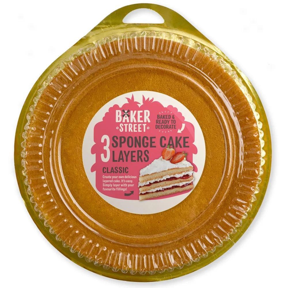 Baker Street 3 Sponge Cake Layers Classic 400g