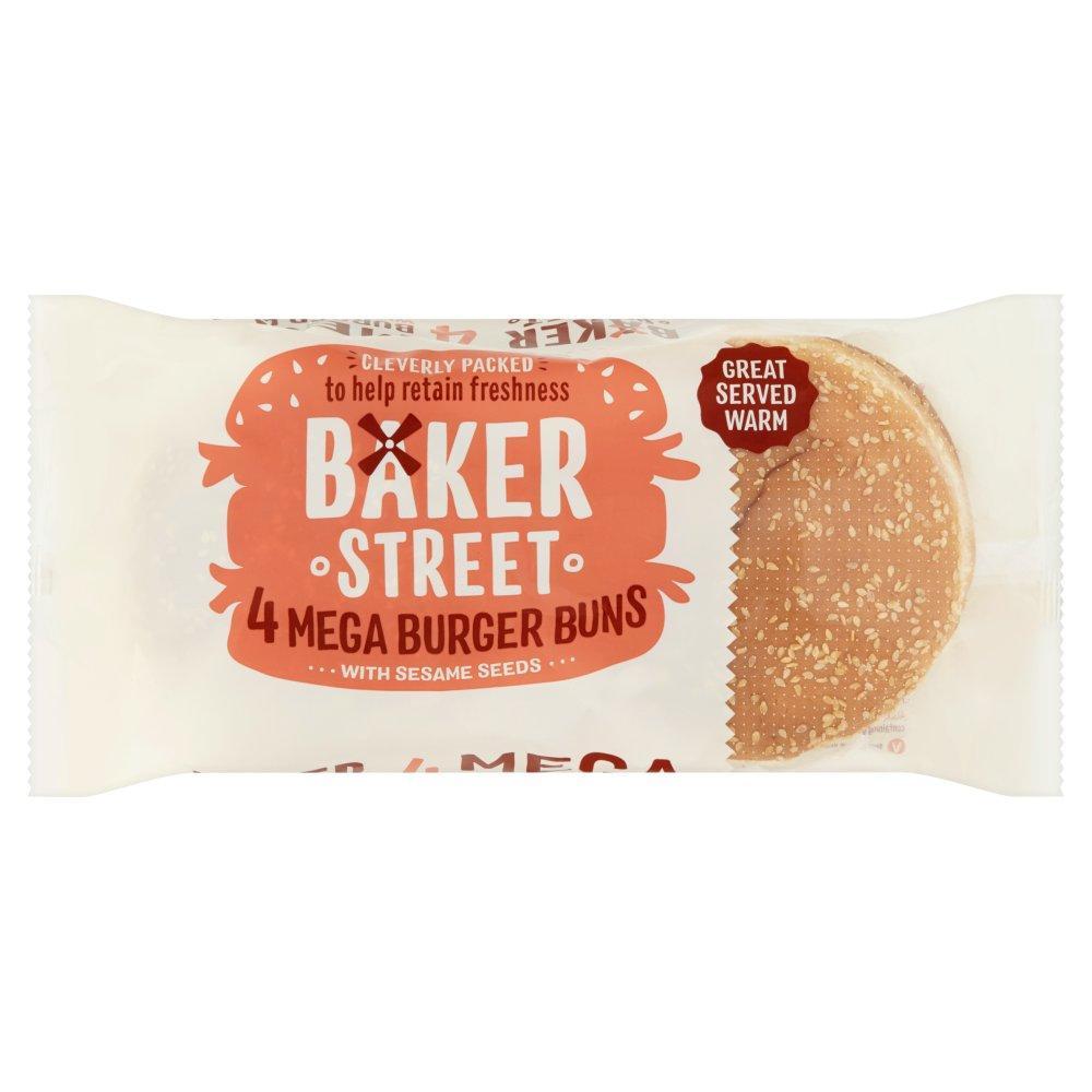 Baker Street Mega Burger Buns 4 pack