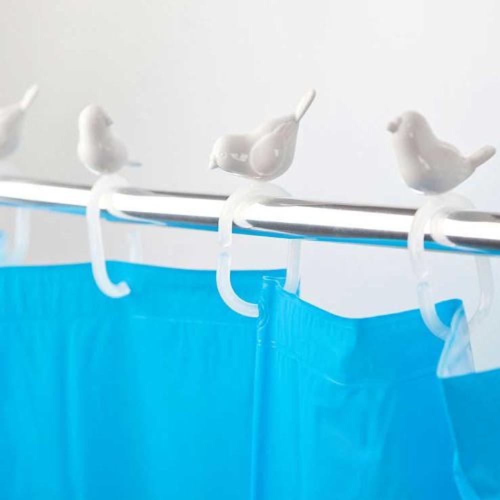 Balvi Peeking Birds Shower Curtain Hooks