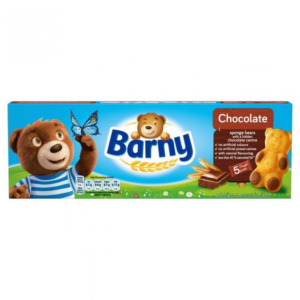 Barny Chocolate Filled Sponge Bears 5 x 30g