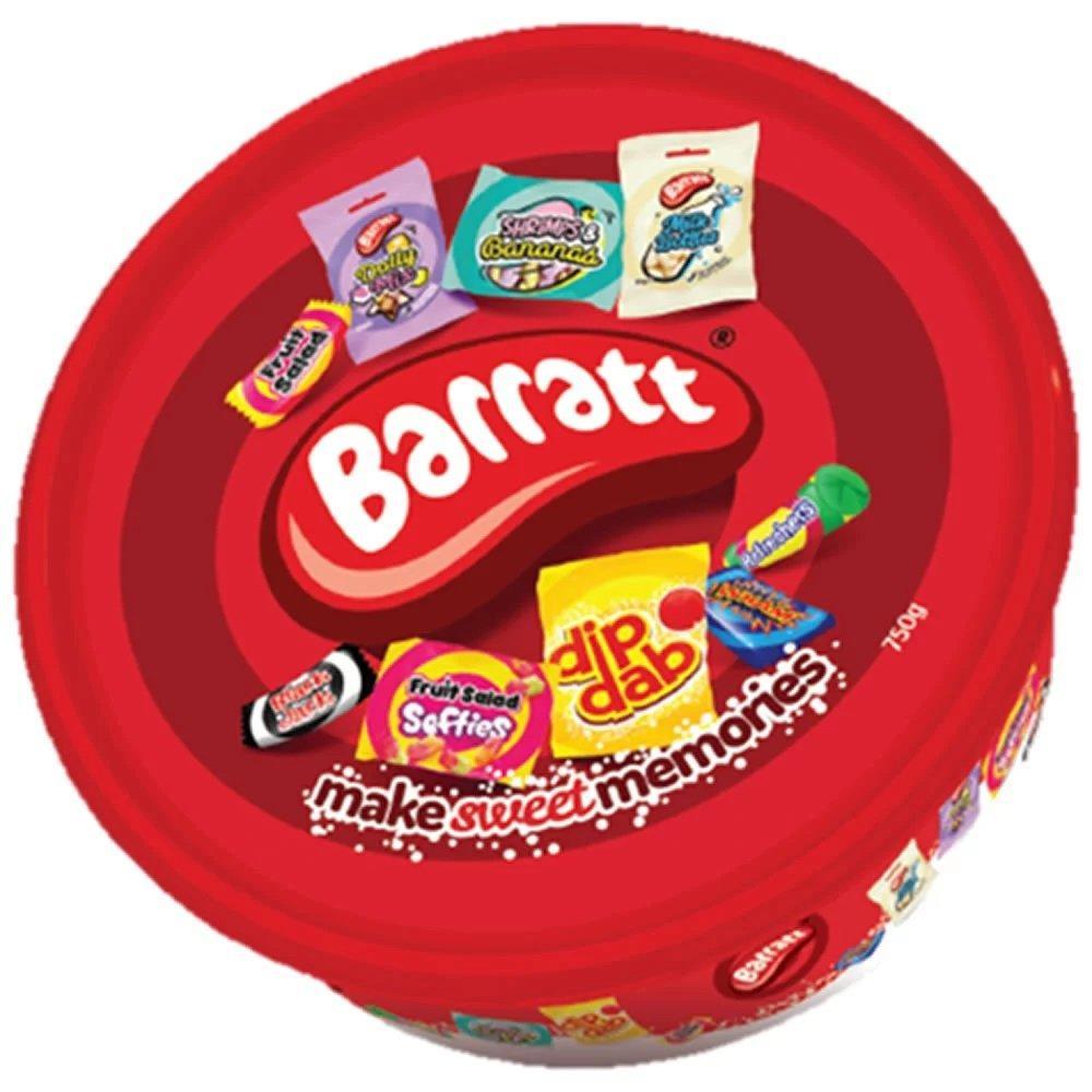 Barratt Sweets and Chews Assortment Tub 750g