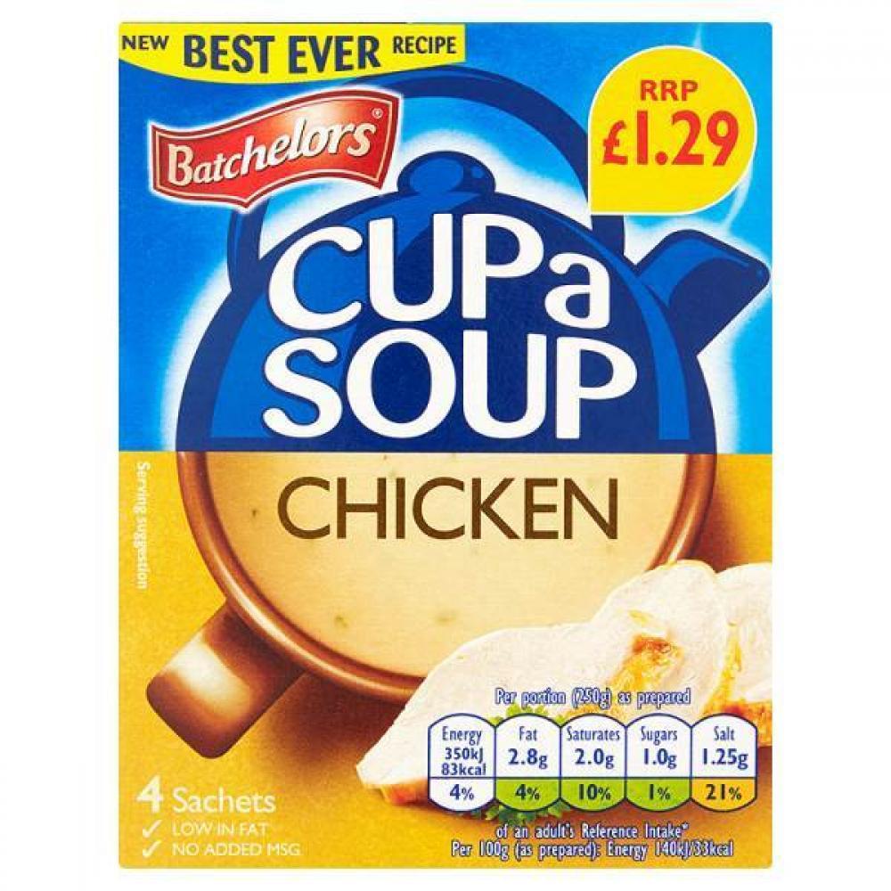 Batchelors Cup a Soup Chicken 81g 4 sachets