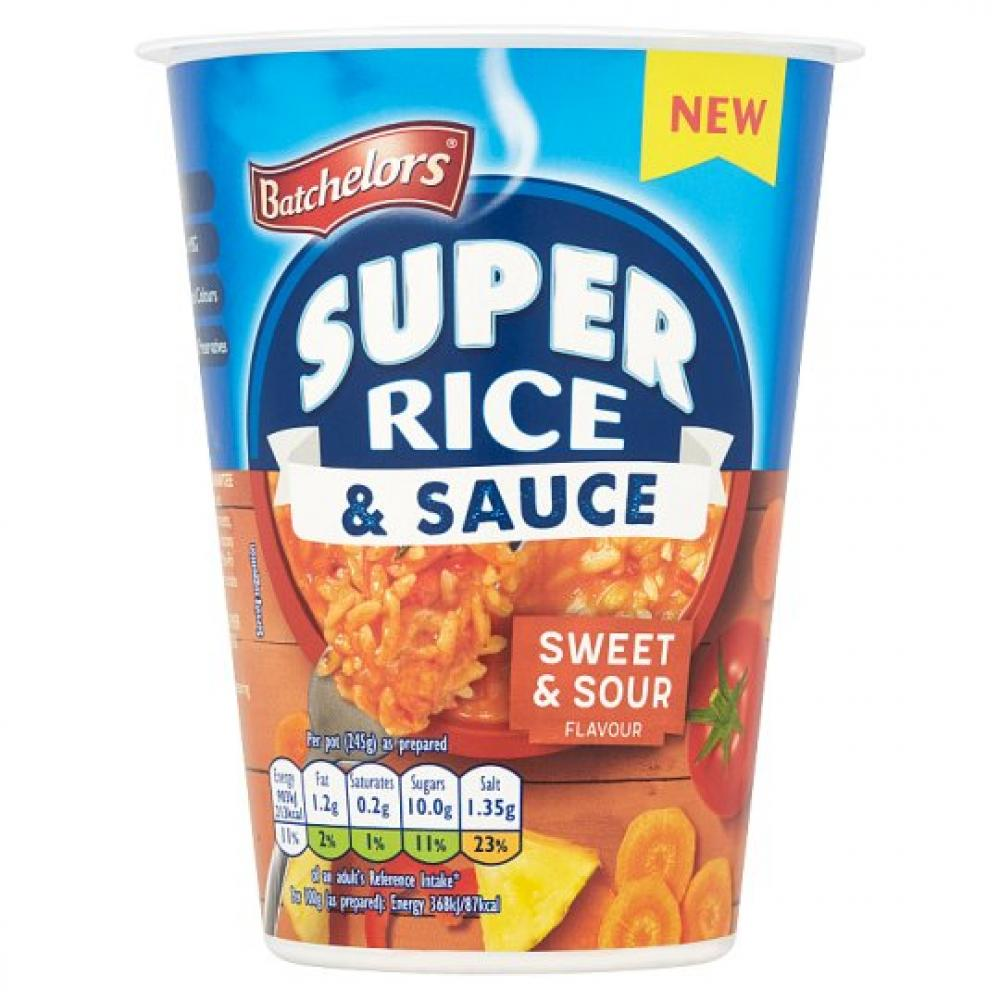 Batchelors Super Rice and Sauce Sweet and Sour Flavour 60g