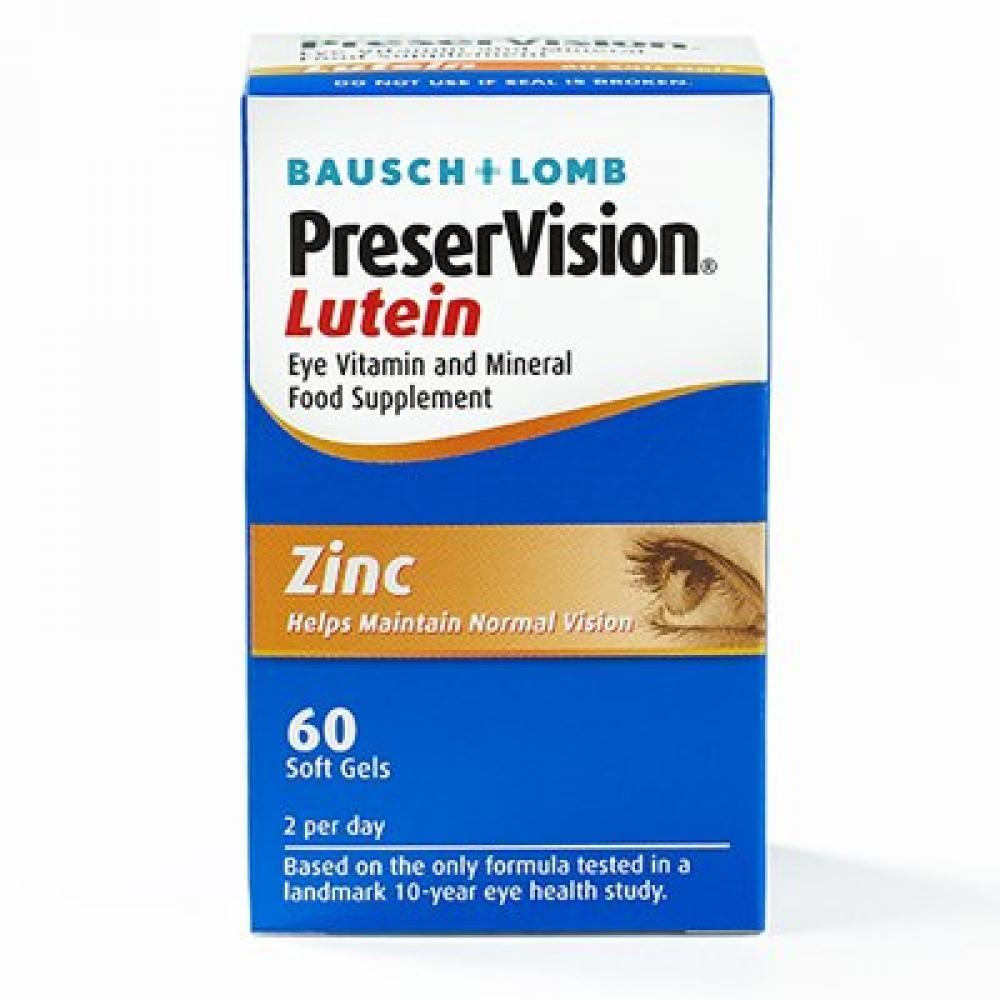 Bausch Lomb PreserVison Eye Vitamin Lutein 60 Soft Gels