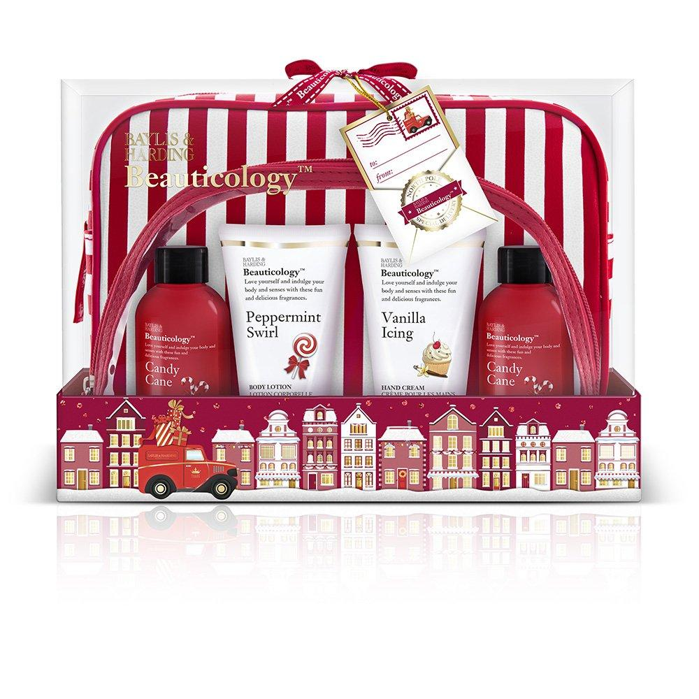 Baylis and Harding Beauticology Special Delivery Red Cosmetic Bag Gift Set Damaged Box