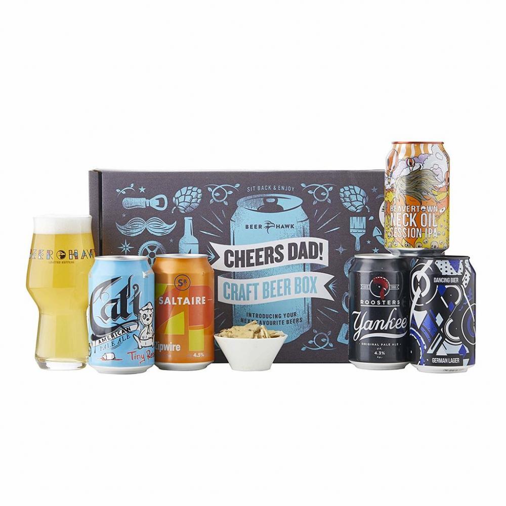 Beer Hawk Cheers Dad Craft Beer Box Gift Set