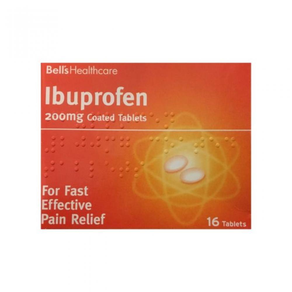 Bells Healthcare Ibuprofen 200mg 16 coated tablets