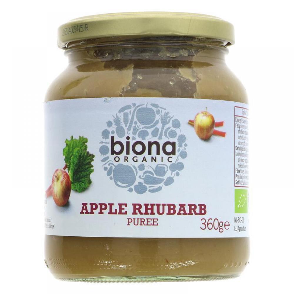 Biona Organic Apple and Rhubarb Puree 360g