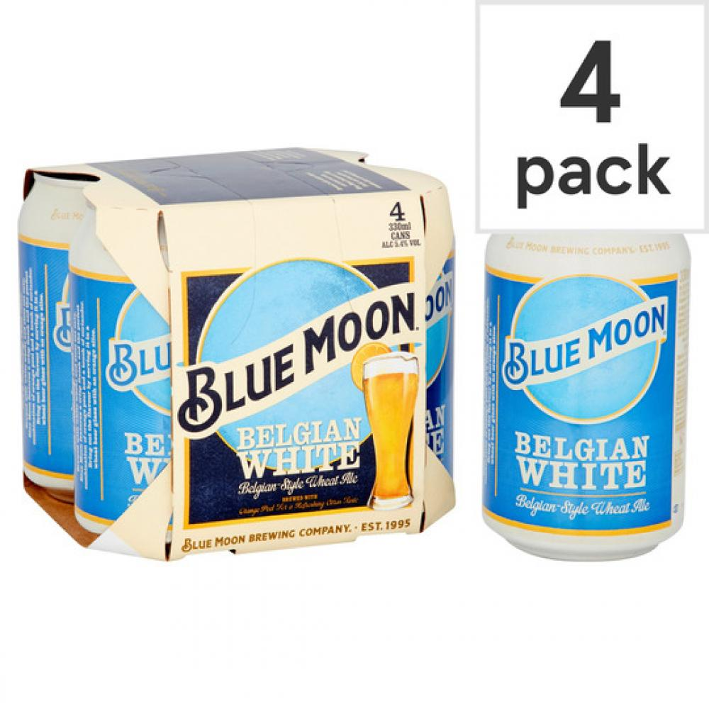 Blue Moon Belgian White Ale 330ml x 4