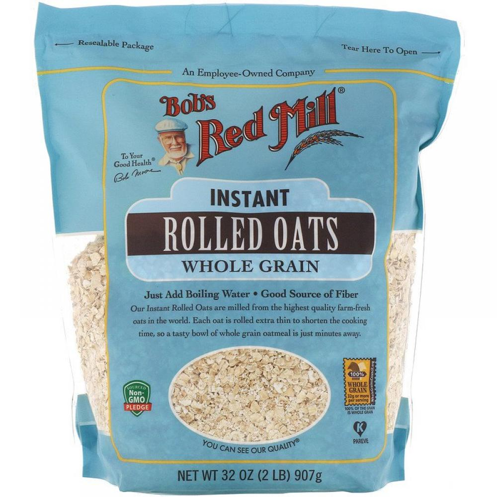 Bobs Red Mill Rolled Oats Whole Grain 907 g