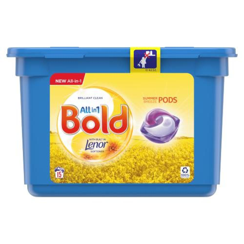 Bold All In 1 Summer Breeze Pods 15 Washes