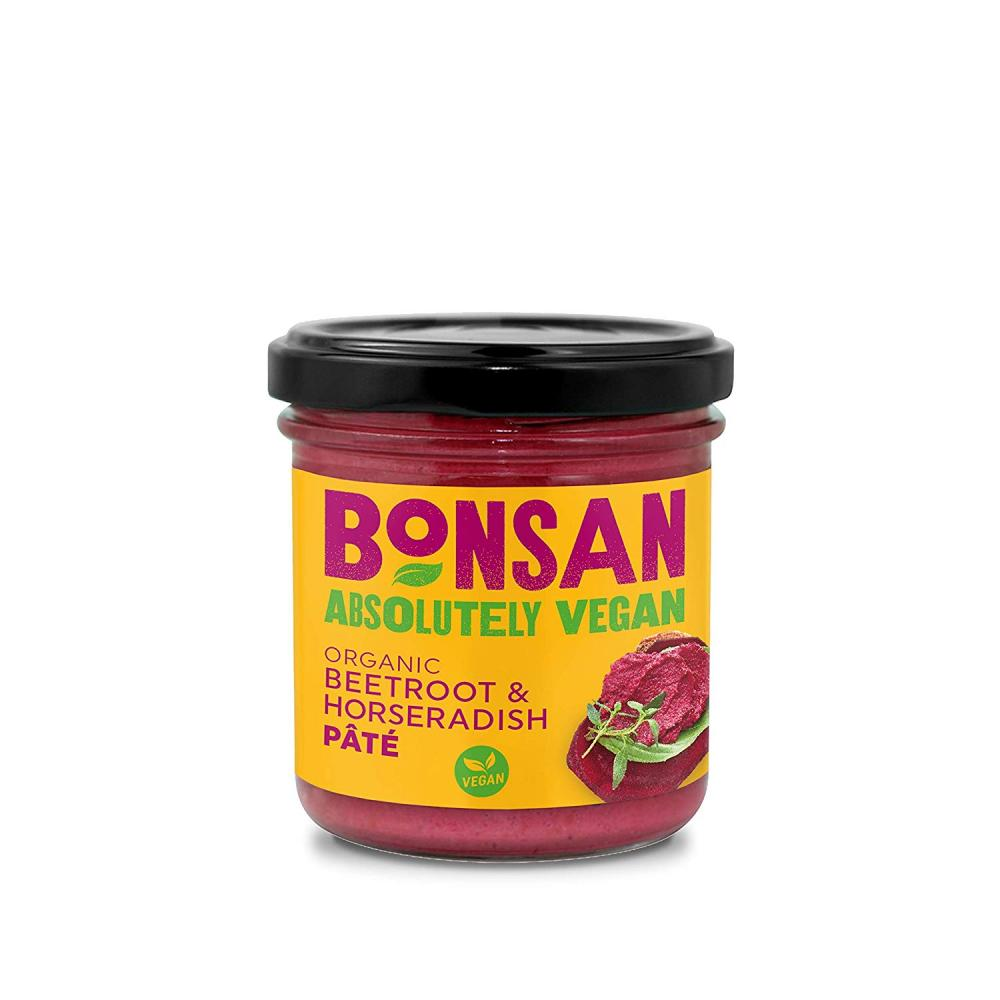 Bonsan Organic Beetroot and Horseradish Pate 130g