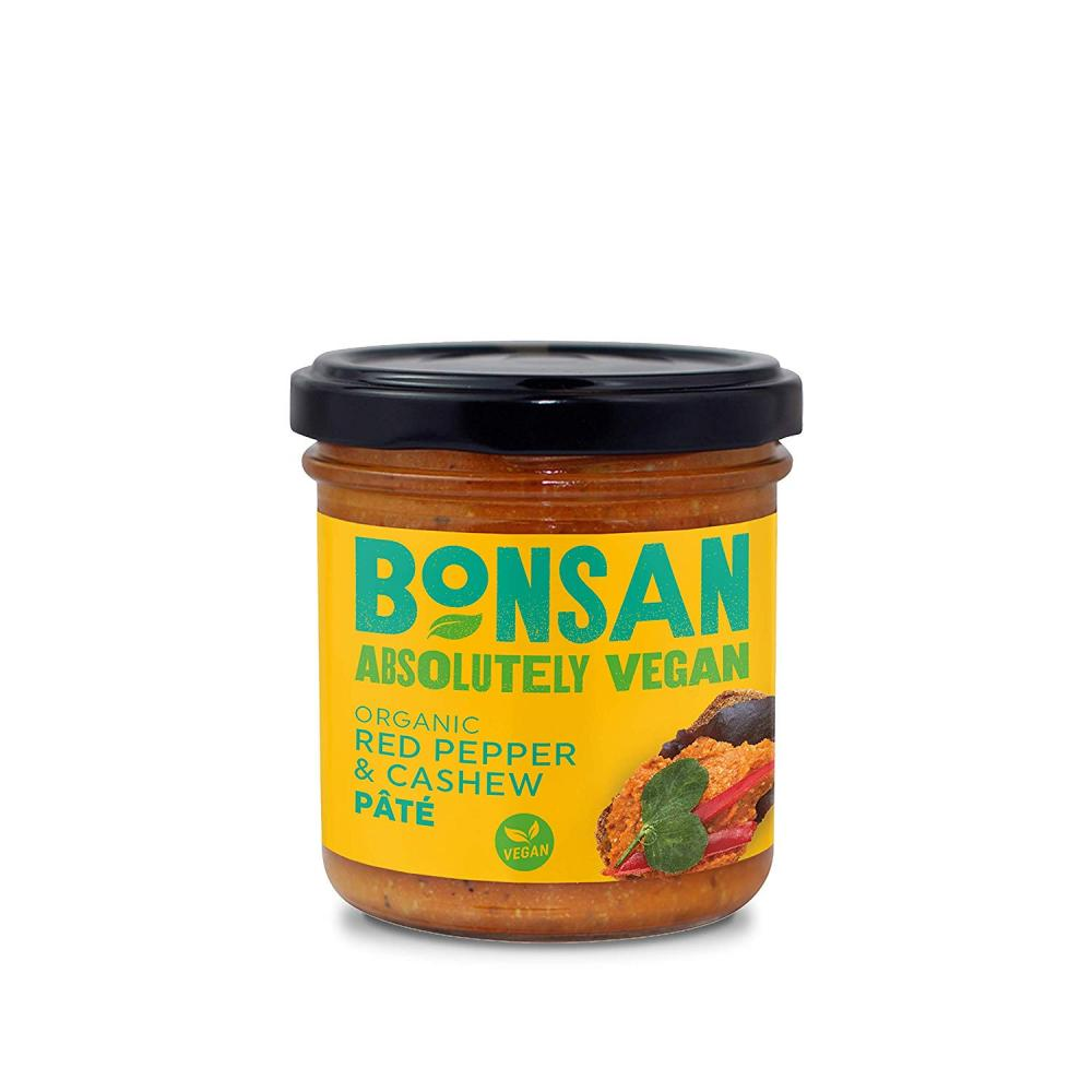 Bonsan Organic Red Pepper and Cashew Pate 130g