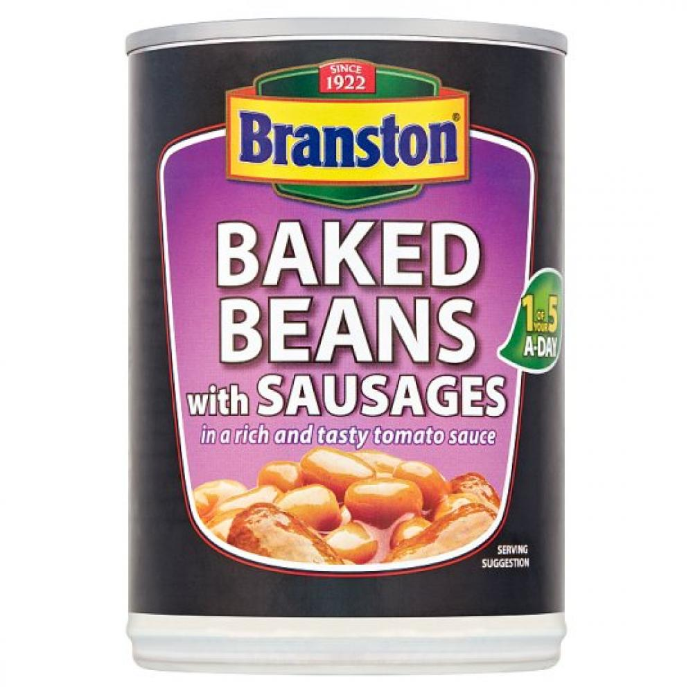 Branston Baked Beans With Sausages 405g