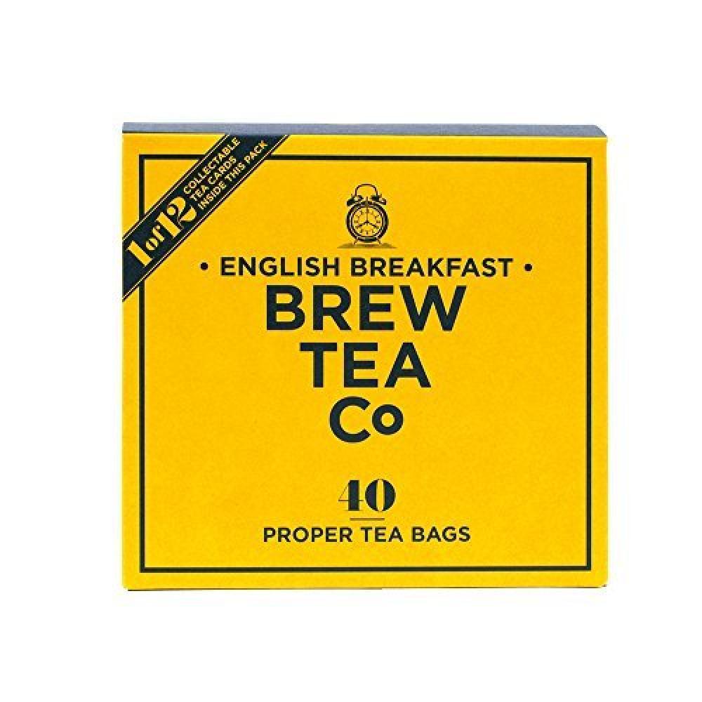 Brew Tea Co English Breakfast Proper Tea Bags 40-Counts