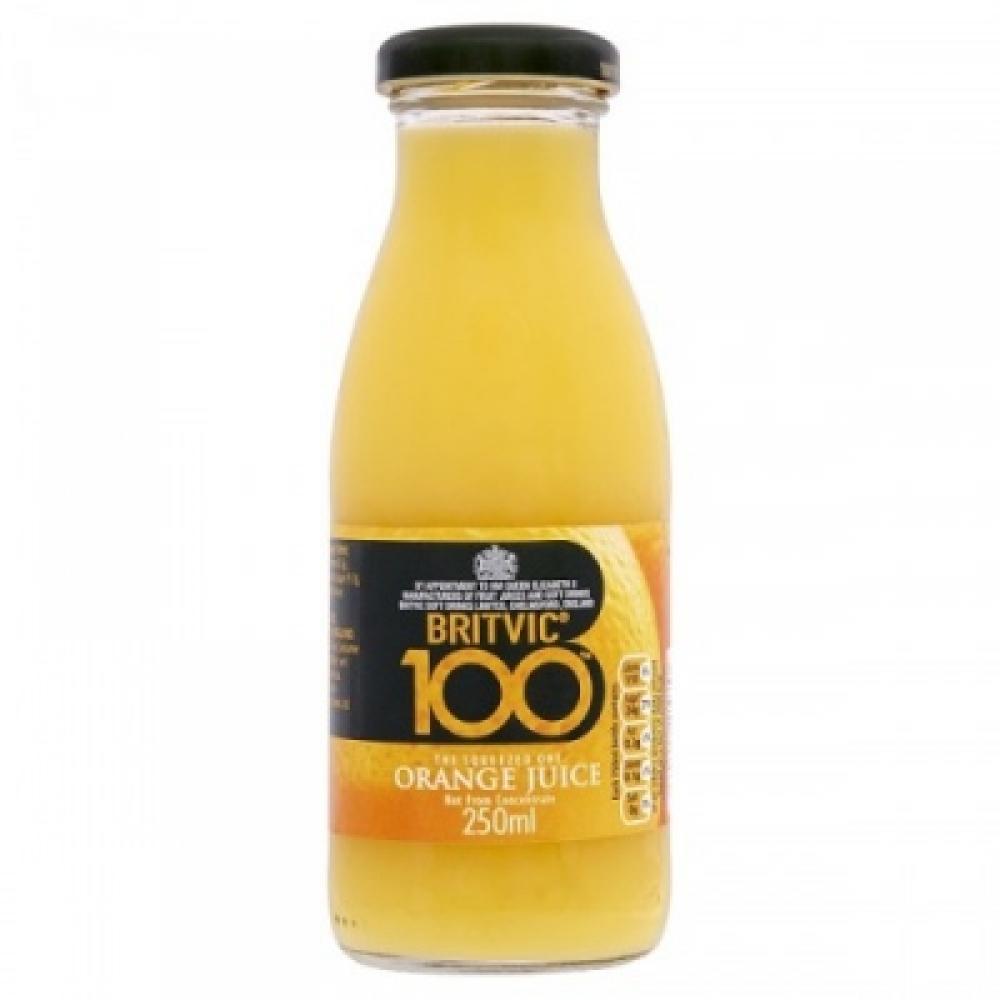 Britvic 100 Orange Juice 250ml