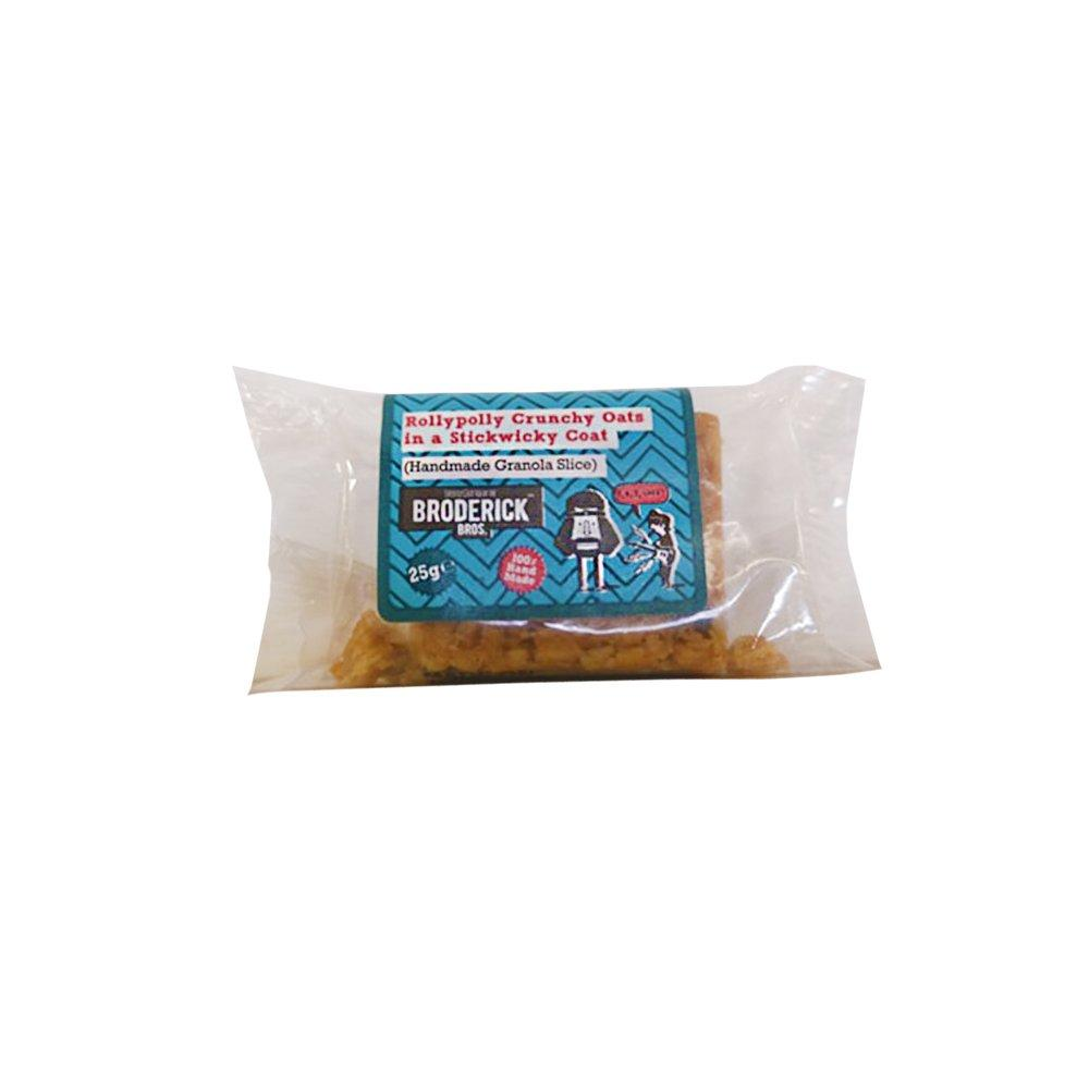 Brodericks Rollypolly Crunchy Oats In a Stickwicky Coat Handmade Granola Slice 25g